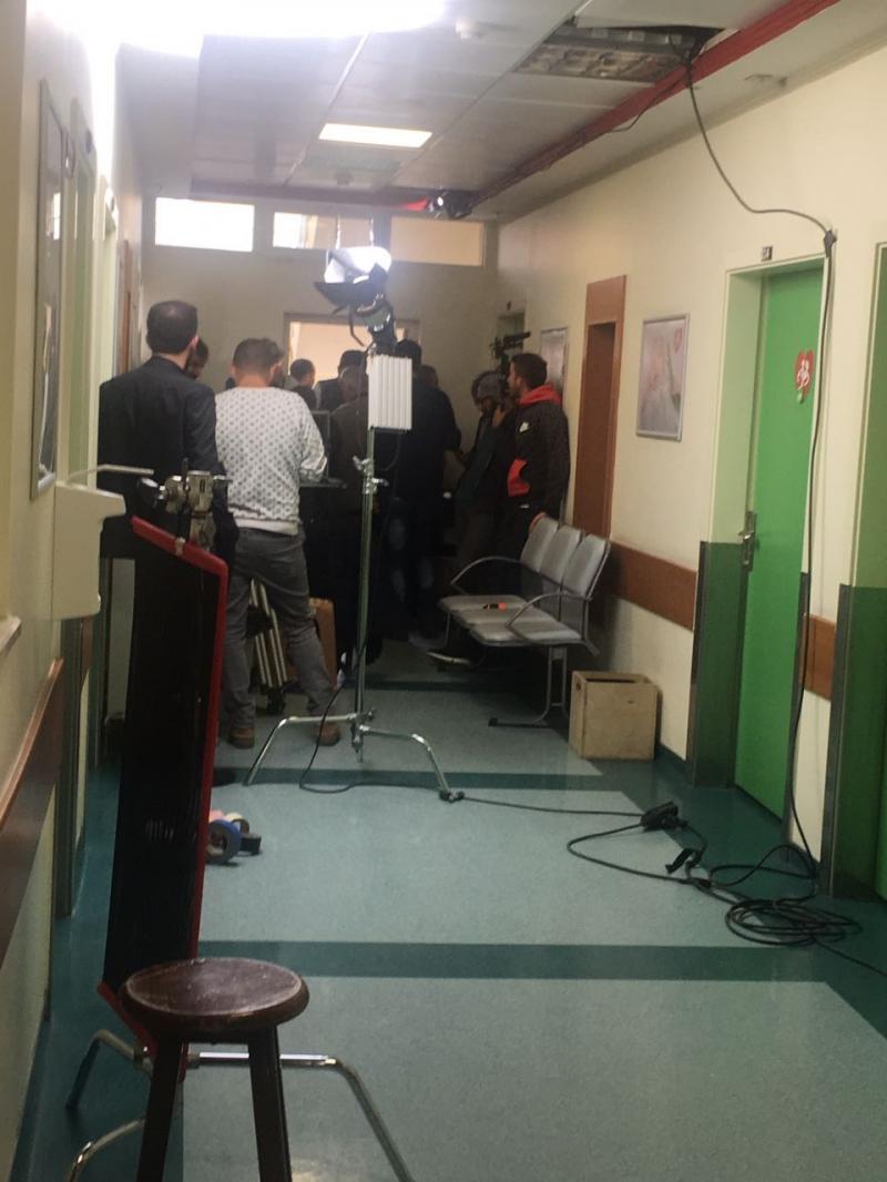 Sanatçı Emrah'ın Aşk ve Mavi dizisi hastanemizde çekiliyor