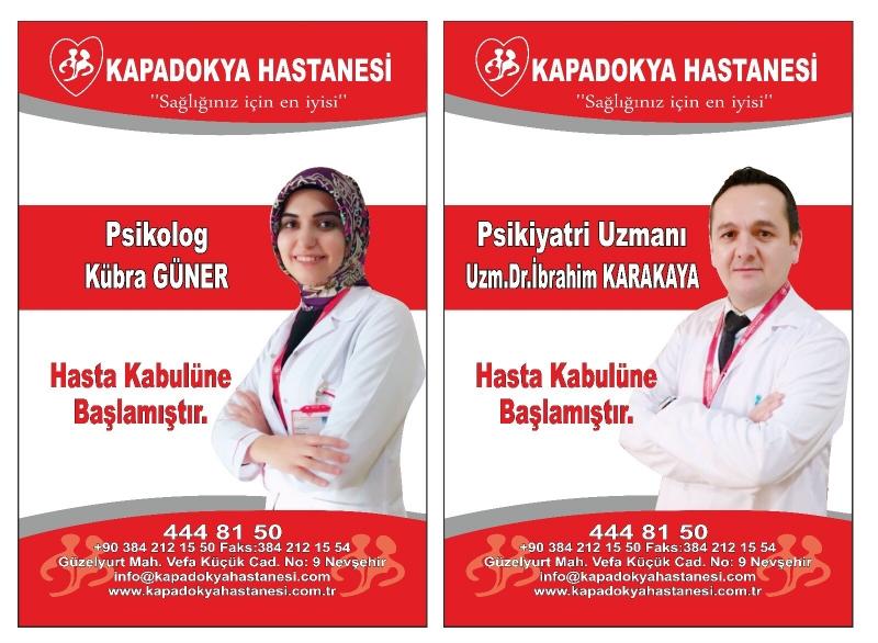 Psikiyatri Uzmanı Uzm. Dr. İbrahim KARAYAKAYA, ve Psikolog Kübra GÜNER hasta kabulüne başlamıştır