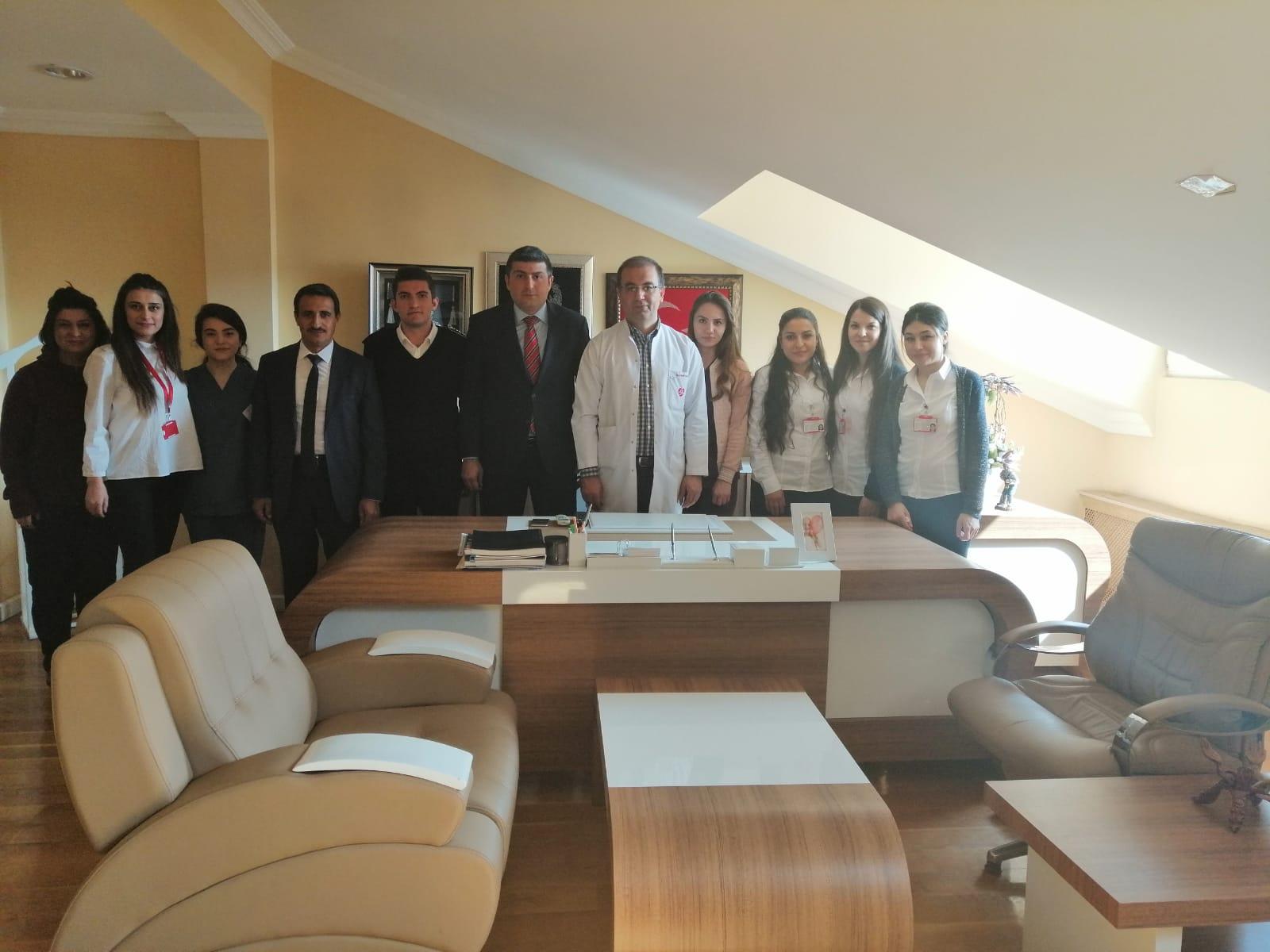 Nevşehir Çalışma ve İş Kurumu İl Müdürü Arif Sıddık BARATA 'dan hastanemize ziyaret.