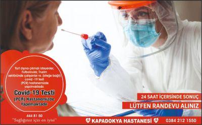 Covid-19 TESTİ HASTANEMİZDE YAPILMAKTADIR