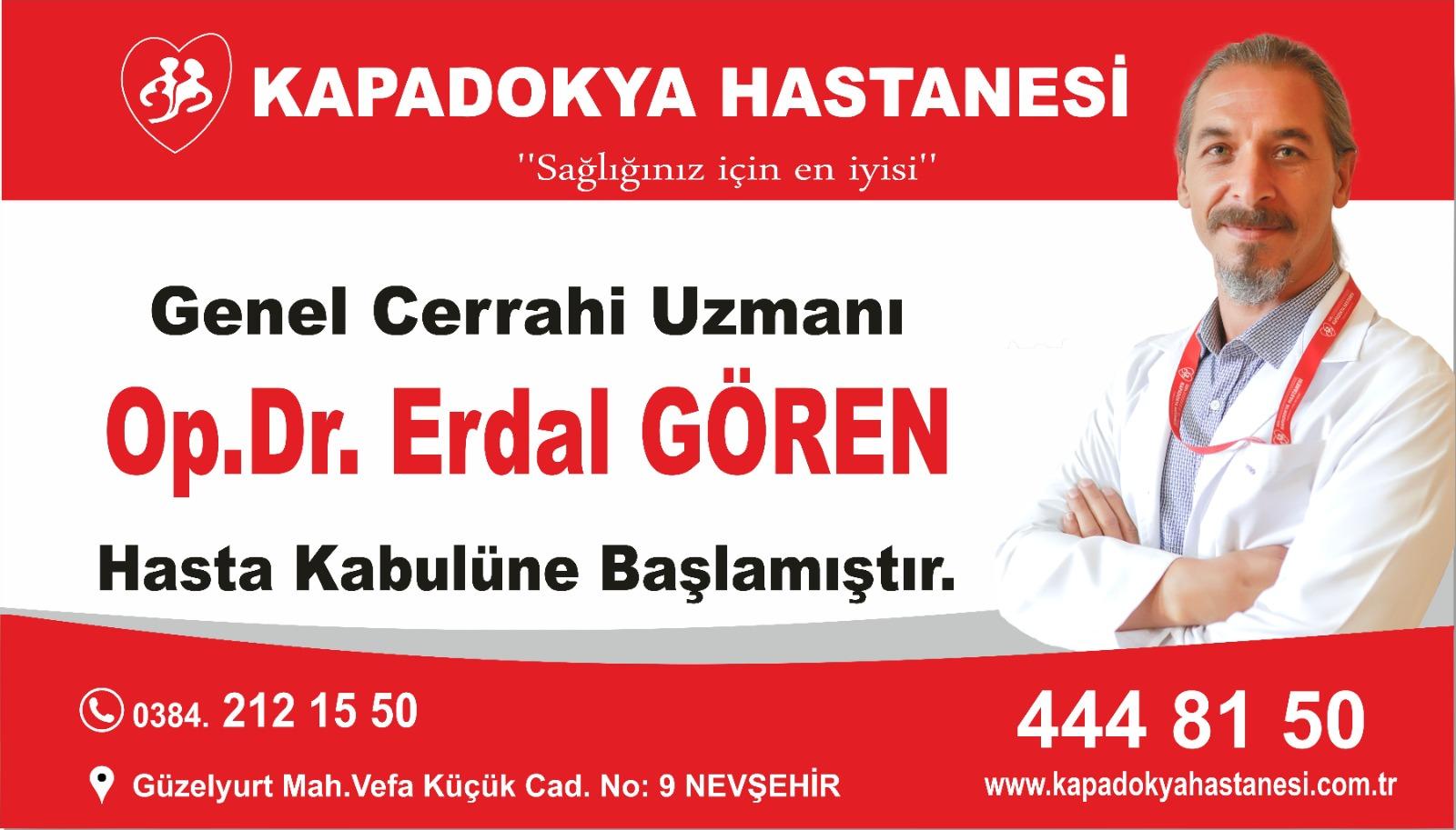 Genel Cerrahi Uzmanı Op.Dr.Erdal GÖREN hasta kabulüne başlamıştır.