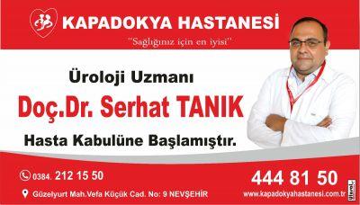 Üroloji Uzmanı Doç.Dr.Serhat TANIK hasta kabulüne başlamıştır.