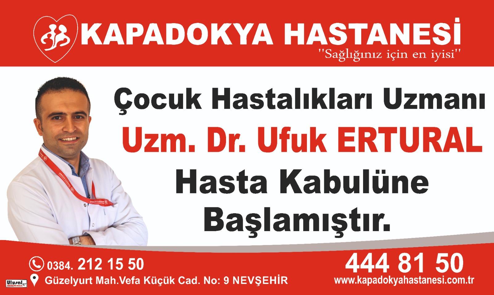 Çocuk Saglığı ve Hastalıkları Uzmanı Uzm.Dr.Ufuk Ertural hasta kabulüne başlamıştır.